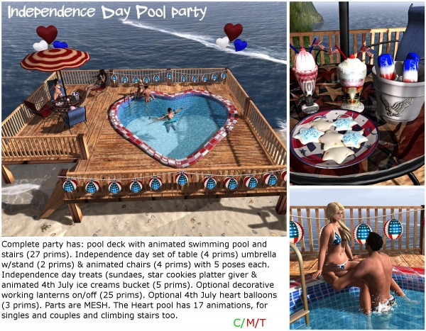 Independence Day pool party