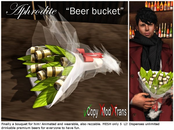 Aphrodite beers bouquet for him