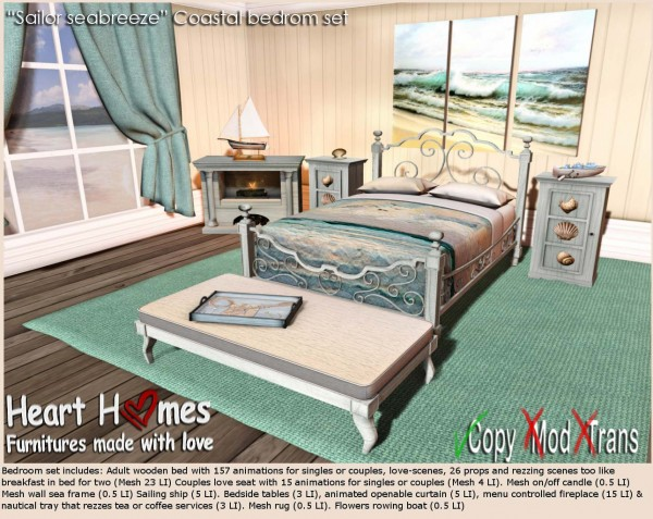 Sailors sea coastal bedroom set