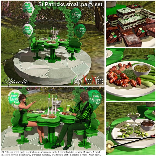 St Patricks party table set
