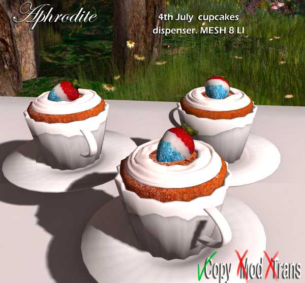 Aphrodite 4th July cupcakes dispenser
