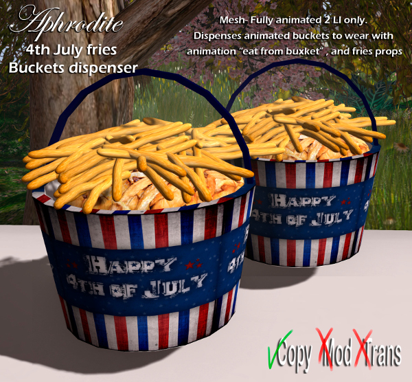 Aphrodite 4th july fries buckets