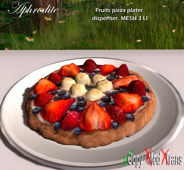 Aphrodite 4th july fruits pizza platter