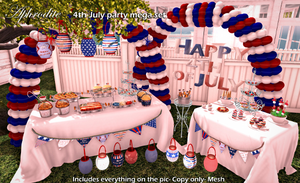 Aphrodite 4th july party mega set