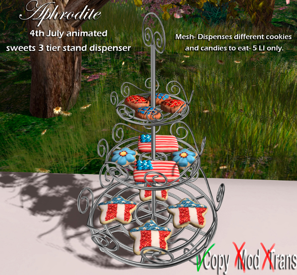Aphrodite 4th july sweets dispenser