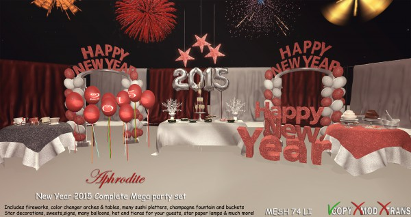 Aphrodite New Year 2015 complete mega party set