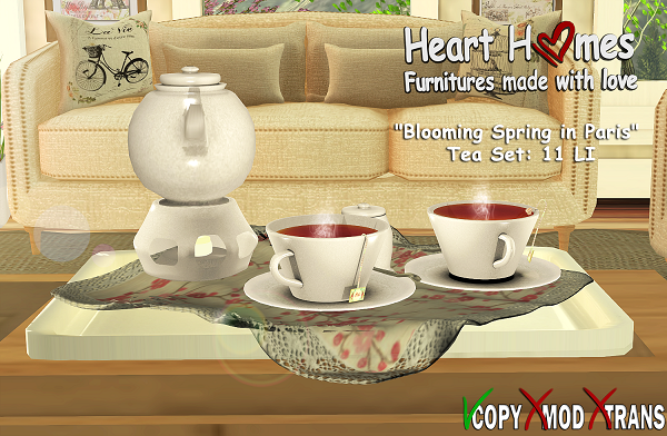 Blooming Spring in Paris - Tea Set