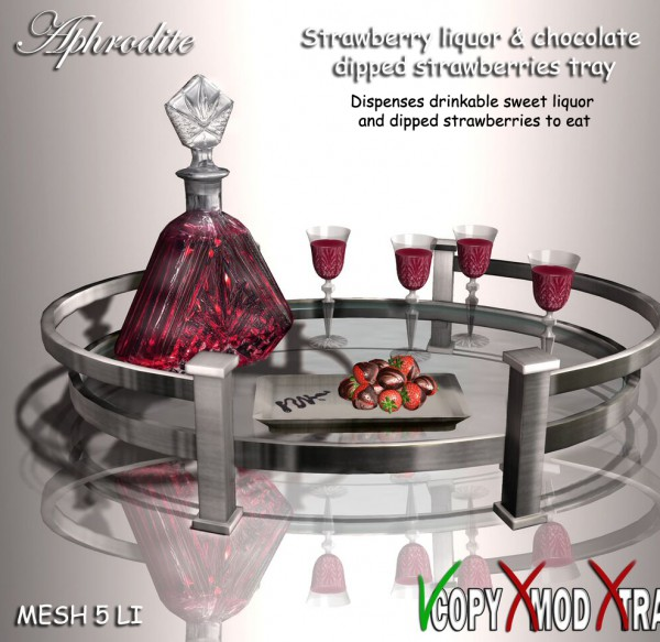 Strabwerry liquor & dipped strawberries tray