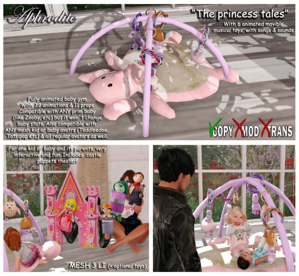 The Princess tables baby gym