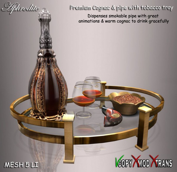 cognac & pipe tray