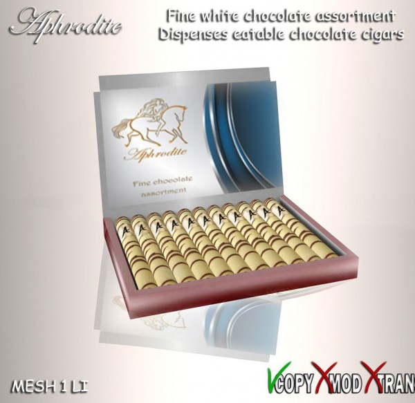 white chocolate cigars box