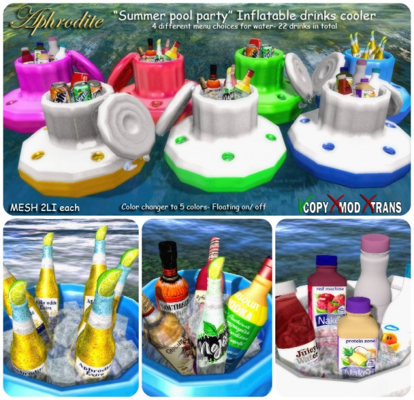 Aphrodite Summer pool party inflatable drinks cooler fat pack