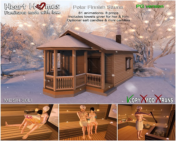 Heart Homes Winter Sauna PG Version