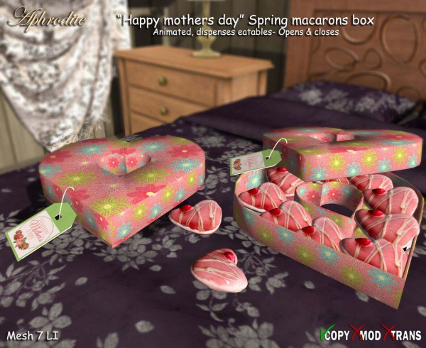 Aphrodite Spring Mothers day macarons box