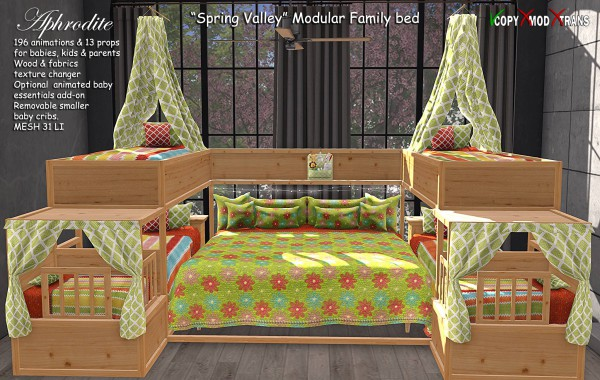 Aphrodite Spring Valley Family bed