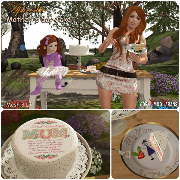 Aphrodite mothers day cake