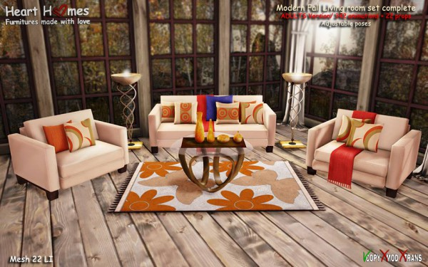 Heart Homes Modern Fall living room ADULTS version