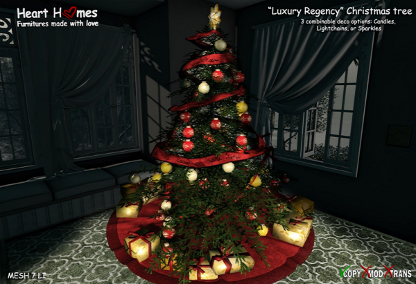 Heart Homes Luxury Regency Xmas tree DECO (night)