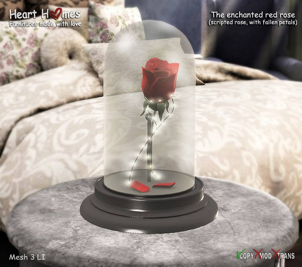Heart Homes- The enchanted red rose
