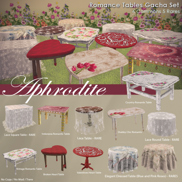 Romance  Table Gacha Set2