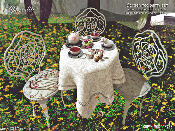 Aphrodite Garden tea party set